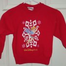 Walt Disney World Kids Tinker Bell Sweatshirt Red Santa Christmas Size XS 4-5