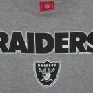 Oakland Raiders T Shirt NFL Football Gray Black Size Med