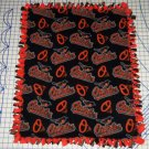 Baltimore Orioles Baby Blanket Baseball Hand Tied Fleece Pet Lap MLB Baseball