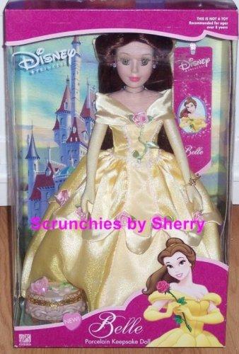 Disney Doll Princess Belle Porcelain Brass Key Rare MIB Vintage Great Gift
