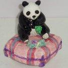 Signed Yamada  Panda Bears Schmid Music Box Sunshine Shoulders Musical Vintage