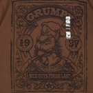 Disney Store Grumpy T-Shirt A Miner Grouch Nice Guys Finish Last Brown Large