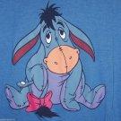 Disney Store Eeyore T-Shirt Blue Navy 3/4 Sleeves  Size XXL Junior Ladies Girls