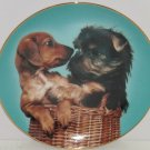 Yorkshire Terrier Yorkie Dachshund Dog Collector Plate Limited Edition Vintage