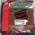 Tampa Bay Buccaneers Blanket Football Throw NFL Red Black NIP