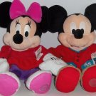 Disney Store Mickey Minnie Mouse Christmas PJs Plush Toy Exclusive Original NWT