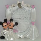 Disney Mickey Minnie Mouse Wedding Photo Frame Picture Theme Parks NIB