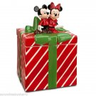 Disney Store Mickey Minnie Mouse Cookie Jar Gift Box Red Green
