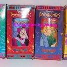 4 Disney Pocahontas Burger King Plastic Glasses Vintage Collectible