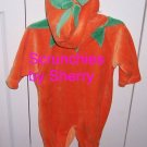Halloween Pumpkin Suit Costume Baby Infant Girl Boy 0-3 Months NWTS