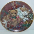Teddy Bear Collector Plate The Party's Over Sue Willis Franklin Mint COA Retired