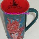 Disney Store Little Mermaid Coffee Mug Cup Art Ariel Teal Pumpkin Retired