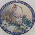 Irises Collector Plate Lena Liu Basket Bouquets Flower Floral Retired Vintage