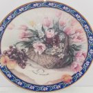 Parrot Tulips Collector Plate Lena Liu Basket Bouquets Floral Retired Vintage