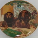 Dachshund Collector Plate Wiener Dog Come Here Christopher Nick Danbury Mint