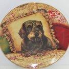 Dachshund Collector Plate Wiener Dog Sweet Dreams Christopher Nick Danbury Mint