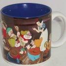 Disney Snow White Seven Dwarfs Coffee Mug Tea Cup Blue Retired Vintage Japan