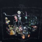 Nightmare Before Christmas T-Shirt Black XL Vintage Touchtone Tim Burton