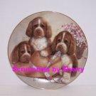 Puppy Pals Dog Plate Bonnet Bows Collectors Danbury Mint Retired