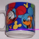 Disney Donald Pluto Goofy Minnie Mickey Coffee Mug Cup Bright Colorful