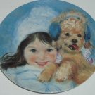 Frances Hook Collector Plate Winter Wrappings Girl Puppy Roman Vintage 1983 New