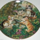 Cat Kitty Collector Plate Daily Mews News Frisky Felines Jurgen Scholz Bradford