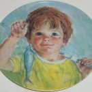 Frances Hook Collector Plate Caught it Myself Boy Fishing Roman Vintage 1983 New