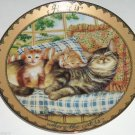 Cat Kitty Collector Plate Sitting Pretty Home Where Cat Karen Murray Bradford