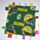 Green Bay Packers Fleece Ribbon Tag Blanket Green Gold Baby Boy Girl NFL