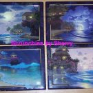 4 Collector Plates Tranquil Tides Rainbow Moonlit Water Bradford Exchange Rare