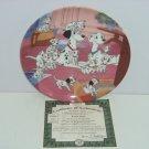 Disney 101 Dalmatians Collector Plate Watch Dog Puppy Bradford Exchange Retired