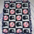 New York Yankees Fleece Blanket Patchwork Hand Tied Baby Pet Lap MLB Baseball