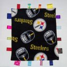 Pittsburgh Steelers Black Gold  Fleece Ribbon Blanket Baby Boy Girl NFL Football