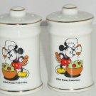 Walt Disney Productions Mickey Mouse Chef Salt Pepper Shakers Vintage Japan
