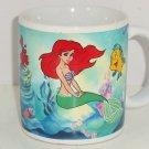 Disney Little Mermaid Ariel Flounder Sabastian Coffee Mug Cup Princess Ocean