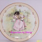 Little Ladies A Day in the Country Collector Plate Vintage Victorian Children