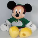 Disney Store Snowman Mickey Mouse Christmas Plush Toy Exclusive Original Retired