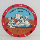 Disney Plate 101 Dalmatians Mothers Day Collectors Grolier 1989 Puppy Love