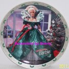 Barbie Happy Holidays Collector Plate 1995 Enesco Vintage Retired Great Gift