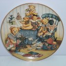 Teddy Bear Sewing Circle Collector Plate Franklin Mint COA Vintage