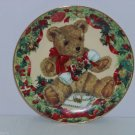 Teddy Bear First Christmas Collector Plate Franklin Mint COA Sarah Bengry