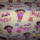 Dora Explorer Yellow Fleece Blanket Hand Tied Baby Pet Lap Girls Shower Gift