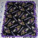 Baltimore Ravens Black Fleece Baby Pet Dog Lap Blanket