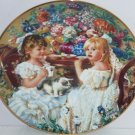 Tea Party Girls Kitty Collector Plate Reco International Vintage 1991