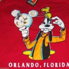 Disney T-Shirt Mickey Unlimited Goofy Mouse Orlando Florida Red Purple Vintage