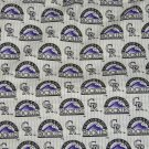 Colorado Rockies Fabric Cotton MLB Baseball Craft Quilt Out of Print Rare BTY