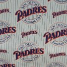 San Diego Padres Fabric Cotton MLB Baseball Craft Quilt Out of Print Rare BTY