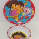 Dora Boots Explorer Kids Bowl Dinner Plate Melmac Girls