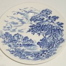 Enoch Wedgwood Countryside Dessert Plate Blue China England Tunstall Lot of 4