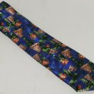 Basketball Mens Neck Tie Necktie Hoops Beverly Hills Polo Club Blue Green